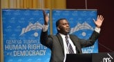 Biram Dah Abeid at the 2014 Geneva Summit for Human Rights