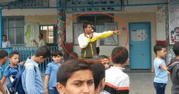 UNRWA teacher abu mike