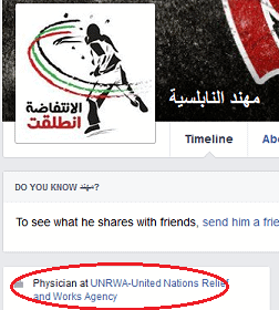 Muhannad Nabulsih - FB profile UNRWA link