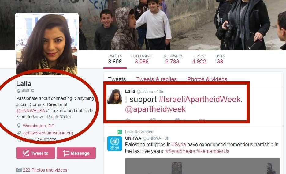 Laila Mokhiber spox for UNRWA USA