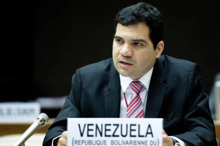 Edgardo Toro, Second Secretary, Permanent Mission of the Bolivarian Republic of Venezuela to the United Nations Office at Geneva a High Level Segment  during the United Nations Economic and Social Council ( ECOSOC ). Thursday 4 July. Photo by Jean-Marc Ferré