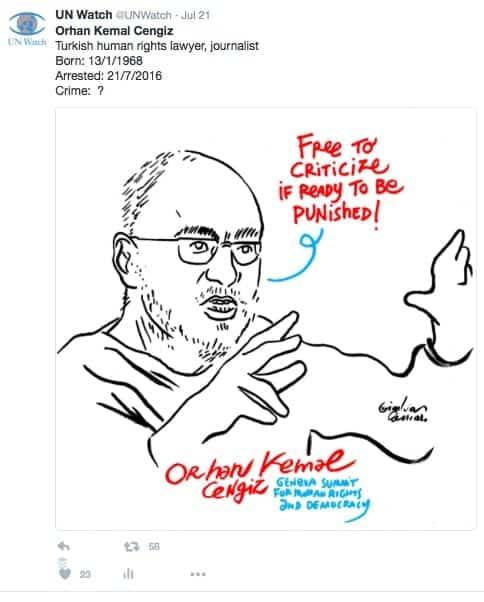 cengiz tweet caricature