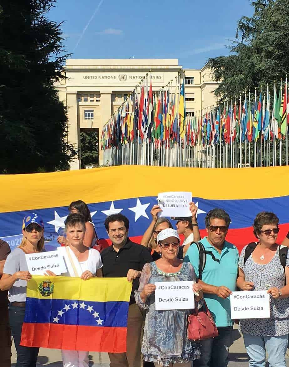 Rally in Geneva for Venezuela