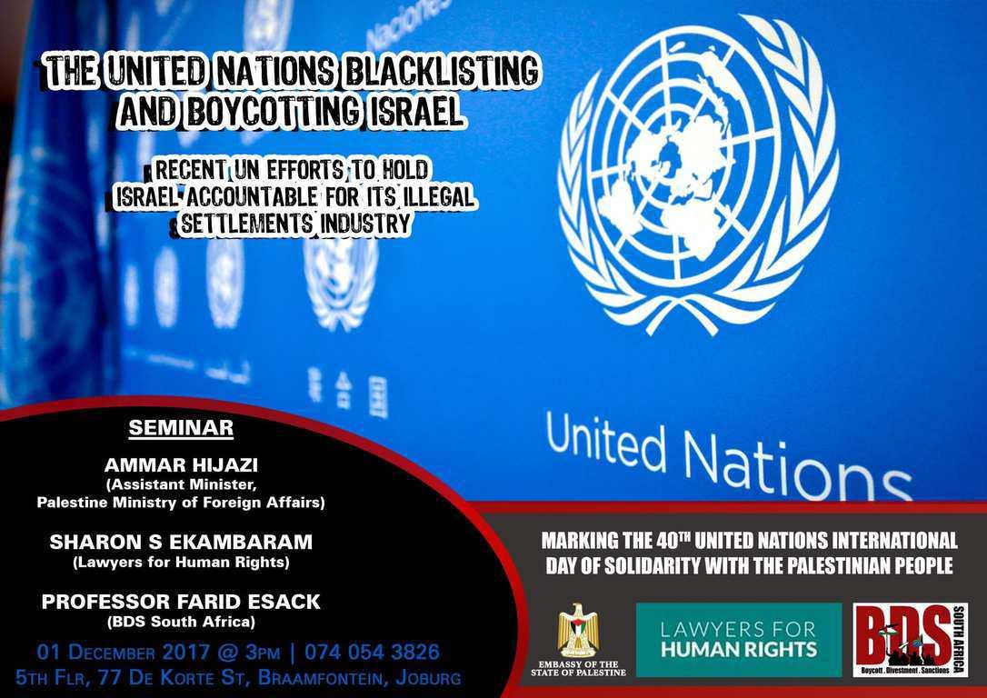 The U N 's Anti-Israel Blacklist: Myths & Facts on the